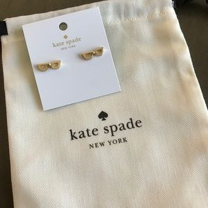 258214c6fb3d1 Kate Spade lookout glasses stud earrings NWT